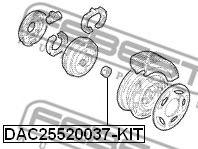 Комплект подшипника ступицы колеса FEBEST арт. DAC25520037KIT