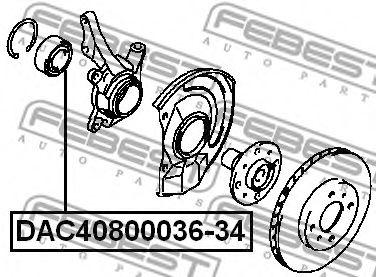 Подшипник ступицы колеса FEBEST арт. DAC4080003634