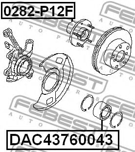 Подшипник ступицы колеса FEBEST арт. DAC43760043