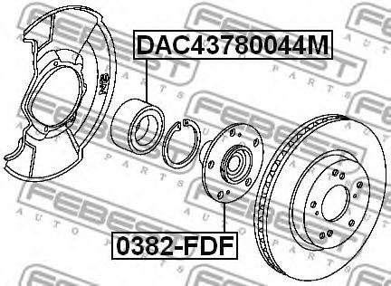 Подшипник ступицы колеса FEBEST арт. DAC43780044M