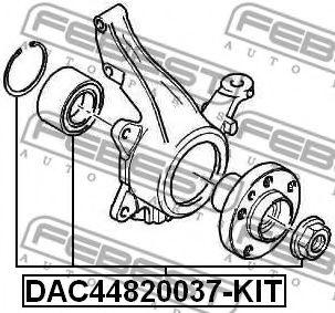 Комплект подшипника ступицы колеса FEBEST арт. DAC44820037KIT