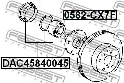 Комплект подшипника ступицы колеса FEBEST арт. DAC45840045