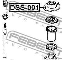 Подвеска, амортизатор FEBEST арт. DSS001