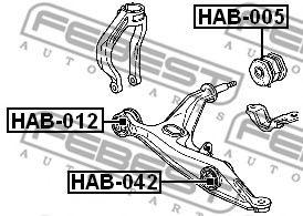 Подвеска, рычаг независимой подвески колеса FEBEST арт. HAB005
