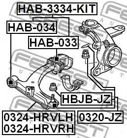 Подвеска, рычаг независимой подвески колеса FEBEST арт. HAB033