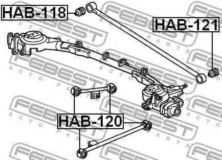 Подвеска, рычаг независимой подвески колеса FEBEST арт. HAB121