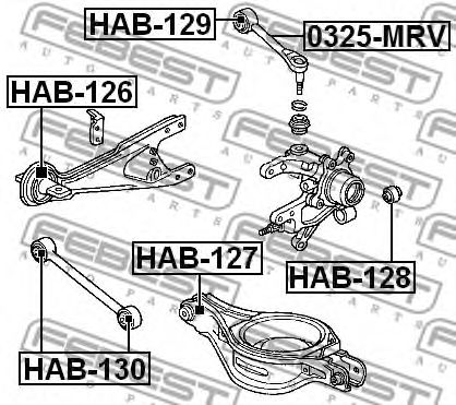 Подвеска, рычаг независимой подвески колеса FEBEST арт. HAB130