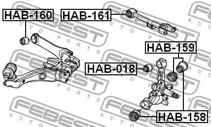 Подвеска, рычаг независимой подвески колеса FEBEST арт. HAB161