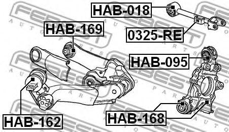Подвеска, рычаг независимой подвески колеса FEBEST арт. HAB162