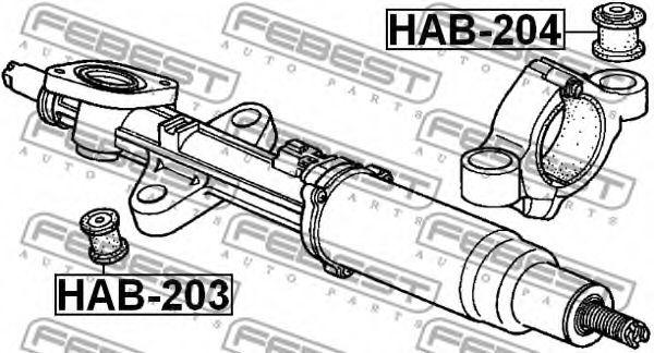 Подвеска, рулевое управление FEBEST арт. HAB204