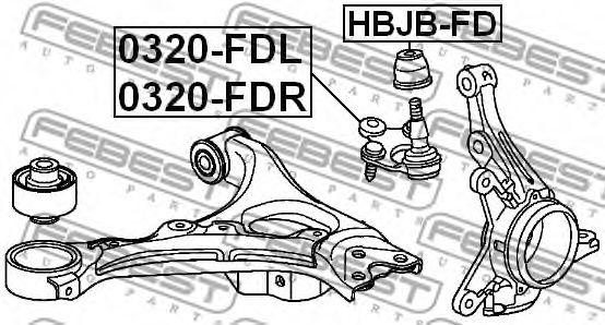 ремонтный комплект, несущие / направляющие шарниры FEBEST арт. HBJBFD