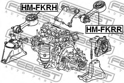 Подвеска, двигатель FEBEST арт. HMFKRH