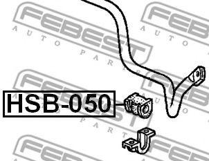 Опора, стабилизатор FEBEST арт. HSB050