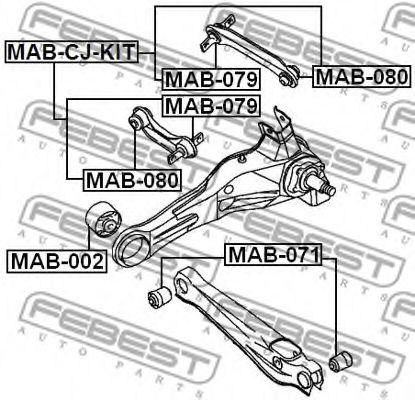 Подвеска, рычаг независимой подвески колеса FEBEST арт. MAB079