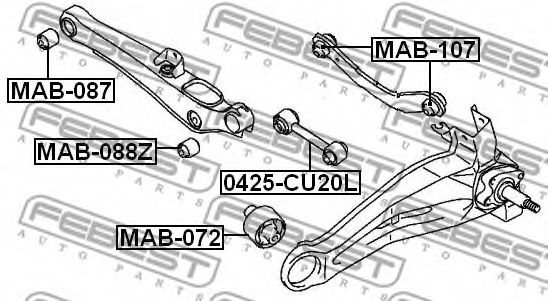 Подвеска, рычаг независимой подвески колеса FEBEST арт. MAB088Z