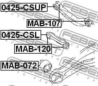 Подвеска, рычаг независимой подвески колеса FEBEST арт. MAB120