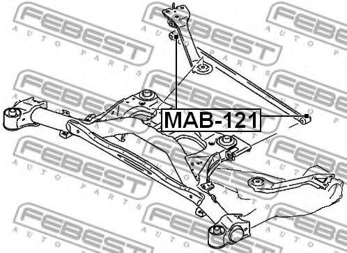 Подвеска, рычаг независимой подвески колеса FEBEST арт. MAB121