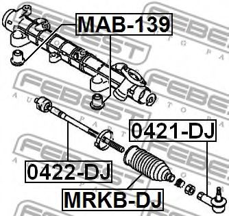 Подвеска, рулевое управление FEBEST арт. MAB139