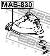 Подвеска, рычаг независимой подвески колеса FEBEST арт. MAB830