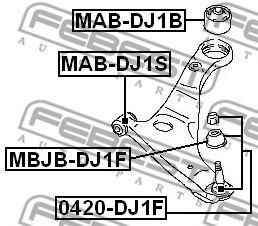 Подвеска, рычаг независимой подвески колеса FEBEST арт. MABDJ1S