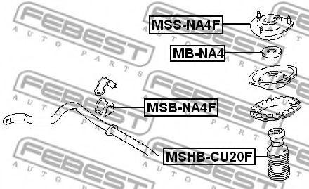 Подшипник качения, опора стойки амортизатора FEBEST арт. MBNA4