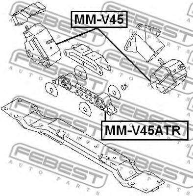 Подвеска, двигатель FEBEST арт. MMV45ATR