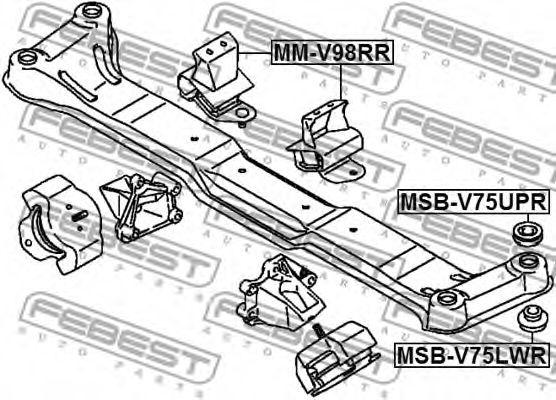 Подвеска, двигатель FEBEST арт. MMV98RR