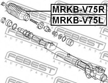 Трансмиссионные Пыльник, рулевое управление FEBEST арт. MRKBV75L