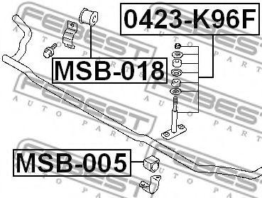 Опора, стабилизатор FEBEST арт. MSB005