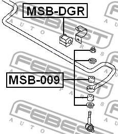 Тяга / стойка, стабилизатор FEBEST арт. MSB009