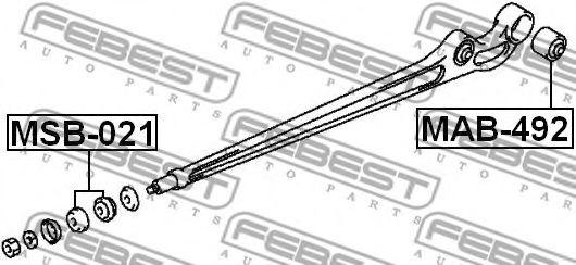 Подвеска, рычаг независимой подвески колеса FEBEST арт. MSB021