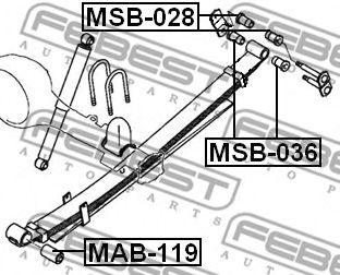 Втулка, листовая рессора FEBEST арт. MSB028