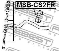 Опора, стабилизатор FEBEST арт. MSBCS2FR