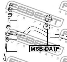 Опора, стабилизатор FEBEST арт. MSBDA1F