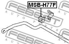 Опора, стабилизатор FEBEST арт. MSBH77F