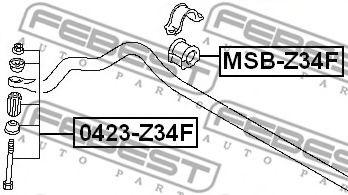 Опора, стабилизатор FEBEST арт. MSBZ34F
