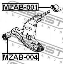 Подвеска, рычаг независимой подвески колеса FEBEST арт. MZAB001