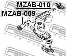 Подвеска, рычаг независимой подвески колеса FEBEST арт. MZAB010