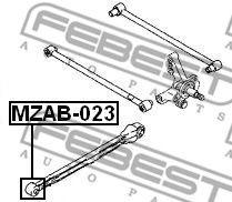 Подвеска, рычаг независимой подвески колеса FEBEST арт. MZAB023