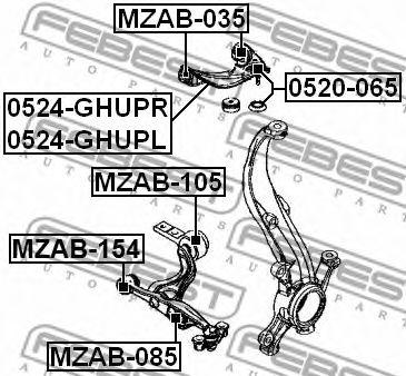 Подвеска, рычаг независимой подвески колеса FEBEST арт. MZAB035