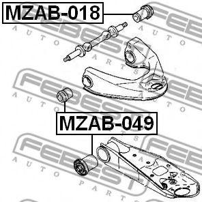 Подвеска, рычаг независимой подвески колеса FEBEST арт. MZAB049