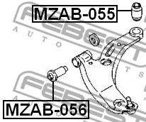 Подвеска, рычаг независимой подвески колеса FEBEST арт. MZAB055