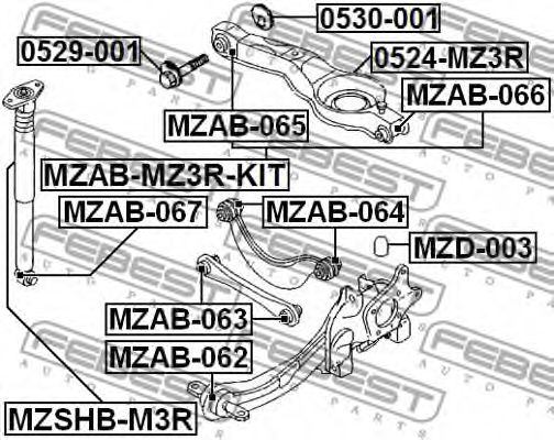 Подвеска, рычаг независимой подвески колеса FEBEST арт. MZAB066