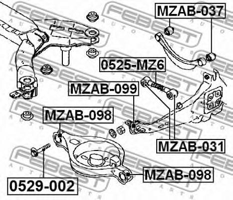 Подвеска, рычаг независимой подвески колеса FEBEST арт. MZAB099
