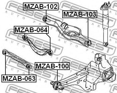 Подвеска, рычаг независимой подвески колеса FEBEST арт. MZAB102