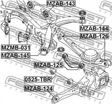 Подвеска, рычаг независимой подвески колеса FEBEST арт. MZAB126