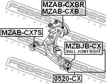 Подвеска, рычаг независимой подвески колеса FEBEST арт. MZABCX7S