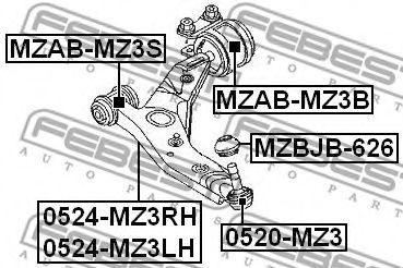 Подвеска, рычаг независимой подвески колеса FEBEST арт. MZABMZ3B