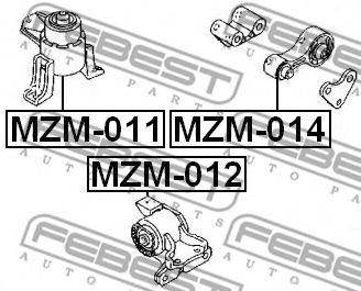Подвеска, двигатель FEBEST арт. MZM011