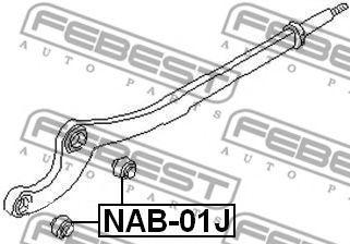Подвеска, рычаг независимой подвески колеса FEBEST арт. NAB01J